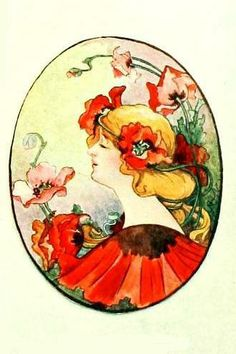 bumble button: Lovely Flower Ladies from early 1900's China Painting Designs