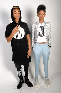 Jaden  and Willow Smith 2013 spitting image of their parents