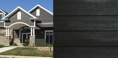Eco-side siding is lighter than fiber cement siding, making the panel easier than ever to handle. Engineered Wood Siding, Concrete Patio Designs, Fiber Cement Siding, Siding Options, Siding Colors, Rustic Home Design, Rustic Bedding, House Siding, Rustic Colors