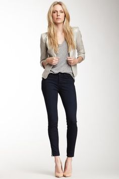 Mid Rise Side Jewel Zip Capri
