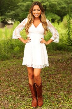 Heart Skips A Beat Dress: White #shophopes