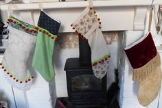A lovely variety of Vintage Christmas Stockings..........all fully lined