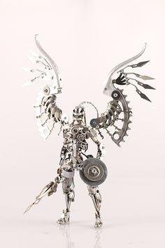 Daisuke Shimodaira Steampunk Angel @N_G_M_Magazine #pimzond #robots #sci-fi