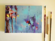 Land of Somewhere Abstract Painting, Acrylic on Canvas by JessicaFraserArt on Etsy