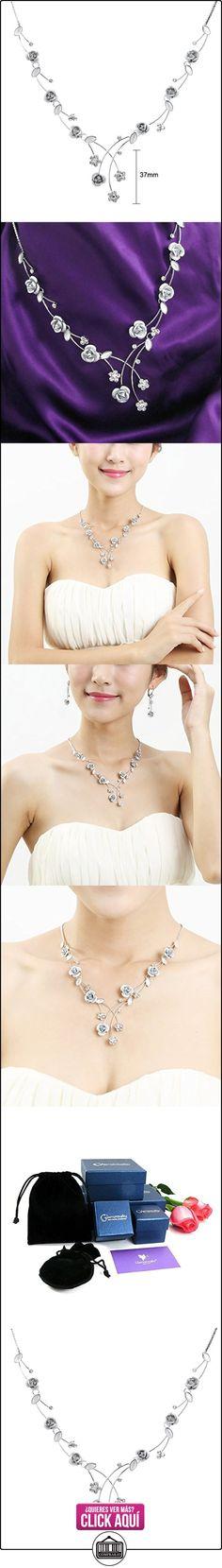 Glamorousky Elegante Collar Rosa Con Cristales Del Elemento Del austriaco De Plata Y Cristal (965)  ✿ Joyas para mujer - Las mejores ofertas ✿ ▬► Ver oferta: https://comprar.io/goto/B005J09XKY