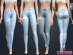 The Sims Resource: 108 - Skinny jeans by sims2fanbg • Sims 4 Downloads