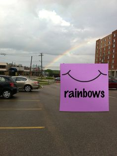 Rainbows makes everyone smile don't they?