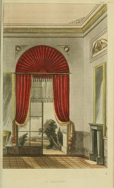 Neoclassical Interior. 1816 - Saloon - Ackermann's Repository