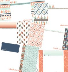 FREE Aztec & Tribal designs for your blog!