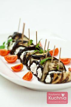 #Roladki z bakłażana - #przepis na przekąskę imprezową.  http://pozytywnakuchnia.pl/roladki-z-baklazana/  #kuchnia