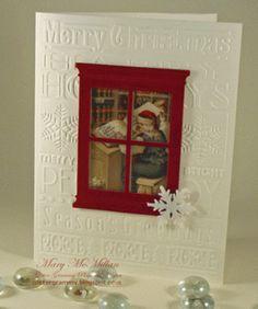 christma card, card idea, card christmaswint, decemb card, paper