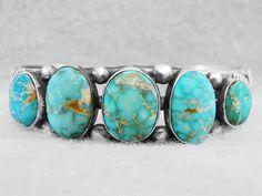 Navajo Bracelet Turquoise Blue Carico Lake Sterling Silver Indian Paul Begay