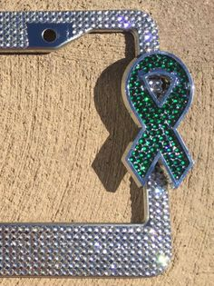 Depression, Cerebral Palsy, Liver Cancer Green Awareness Ribbon, Rhinestone Bling License Plate Frame Cover, Woman car accessory by Zusooz on Etsy Rhinestone License Plate Frames, License Plate Covers, Liver Cancer, Car Accessories For Girls, Cerebral Palsy, Awareness Ribbons, Stones And Crystals, Crystal Rhinestone, Awesome