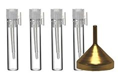 Riverrun Empty Glass Perfume Sample Vials with Funnel Fragrance Cologne Essential Oils Aromatherapy… Review