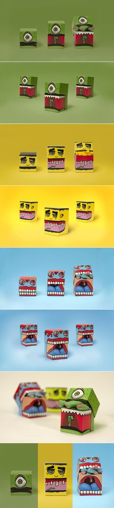 Even though Halloween is over Monster Candy packaging by Charlotte Olsen on Behance is just too cute to resist curated by Packaging Diva PD Kids Packaging, Honey Packaging, Food Packaging Design, Packaging Design Inspiration, Branding Design, Web Design, Label Design, Food Design, Package Design
