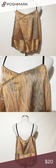"""Derek Lam for DesigNation Pleated Woodgrain Top NWT! Colors are peach, lavender, gray and black.  Loose fit design. Bust measures approximately 20"""". Length approximately 14"""" not including straps. Derek Lam for DesigNation Tops Tank Tops"""