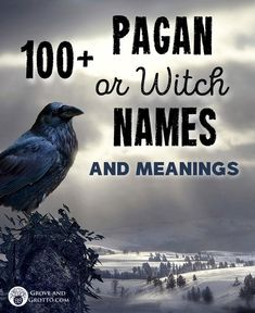 Pagan or Witch names and their meanings – Grove and Grotto Wiccan Names, Wiccan Spells, Pagan Witch, Spiritual Names, Wiccan Beliefs, Green Witchcraft, Pagan Gods, Pagan Art, Book Of Shadows