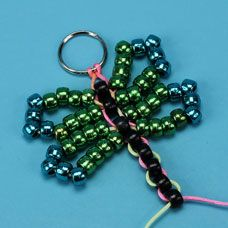 Dragonfly made with Pony Beads