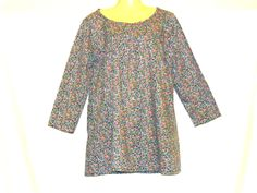 Floral Top, Gypsy Top, Cotton Top, T Shirts, Tops,Retro Top Size 14, Size 12, By Rebeccas Clothes by RebeccasClothes on Etsy Boho Outfits, Vintage Outfits, Custom Made T Shirts, Floral Clothing, Boho Clothing, Hippie Tops, Summer Tops, Gypsy, Size 14