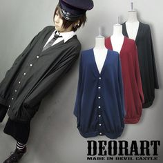 CDJapan : Loose Silhouette Oversized V-neck Cardigan (F) DR-2073-B Deorart APPAREL