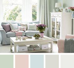 Combinaciones de colores pasteles. http://www.pintomicasa.com