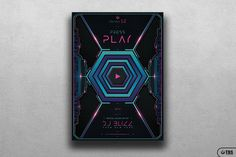 """Check out my @Behance project: """"Press Play Flyer Template"""" https://www.behance.net/gallery/49242515/Press-Play-Flyer-Template"""
