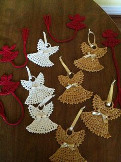 Angel Bookmarks and Ornaments that I hand crocheted