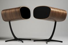 Davone Audio Speakers   fluid shaped high-end speakers   inspired by the iconic lounge chair by Charles and Ray Eames