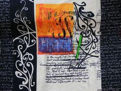 Stoff grafische Muster - Weicher Stretch Jersey Romantic Letter - ein Designerstück von Kekimo bei DaWanda