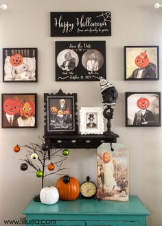 Fall in love with this vintage Halloween gallery wall created with Shutterfly metal prints. We love how it turned out! Follow Kristyn on Pinterest at http://www.pinterest.com/kristynm/.