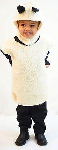 Christmas Nativity-School Play-Unisex-Fancy Dress FLUFFY SHEEP TABBARD All Ages
