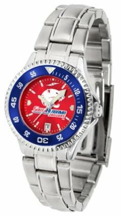 South Alabama Jaguars Competitor AnoChrome Ladies Watch with Steel Band and Colored Bezel by SunTime. $91.67. Showcase the hottest design in watches today! The functional rotating bezel is color-coordinated to compliment the South Alabama Jaguars logo. The Competitor Steel utilizes an attractive and secure stainless steel band.The AnoChrome dial option increases the visual impact of any watch with a stunning radial reflection similar to that of the underside of a CD. Perceive...