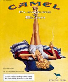 Pin-up publicitaires - Camel #pinup #camel #jpdubs Pin Up Posters, Poster Ads, Jean Harlow, Retro Advertising, Vintage Advertisements, Camel Tattoo, Vintage Cigarette Ads, Pub Vintage, Ad Of The World
