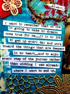 You make things happen! <3