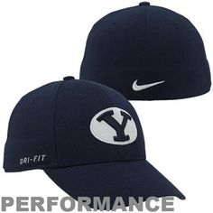 another chance 2e353 d794b Nike Brigham Young Cougars Dri-FIT Swoosh Flex Hat - Navy Blue