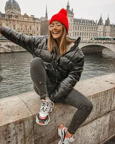 Winter Outfits Street Style Spring Outfits - Winter Outfits for Work Winter Outfits For Teen Girls, Winter Mode Outfits, Winter Fashion Outfits, Autumn Winter Fashion, Spring Outfits, Outfits 2016, Fashion Fashion, Beanie Outfit, Slouchy Beanie