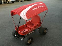 Custom radio flyer ranger wagon lights, slicks, seat, exhaust, top