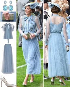 The Duchess chose an elegant, fairytale-like Elie Saab ensemble for today's Royal Ascot. Elie Saab has been a label many Kate-fans have… Looks Kate Middleton, Estilo Kate Middleton, Kate Middleton Outfits, Kate Middleton Fashion, Pippa Middleton, Elie Saab, Princesse Kate Middleton, Kate And Pippa, Prinz William