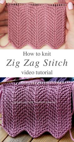 Rib Stitch Knitting, Knitting Stiches, Knitting Videos, Loom Knitting, Crochet Stitches, Baby Knitting, Knit Crochet, Knitting Needles, Crochet Hooks