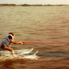 Water skiing at age 6