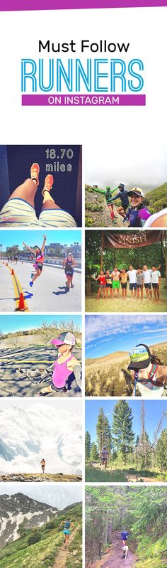 Get inspired to run with the instagram runners to follow - they aren't elite runners, they're fun!