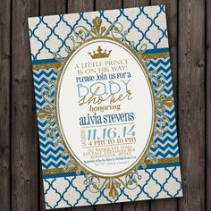 baby boy shower invitation royal little by AmysSimpleDesigns