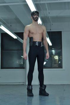 ZANA BAYNE COLLECTION VI  Woven Face Mask & Heavy Peplum Belt