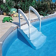 blue wave royal entrance above ground pool step sports