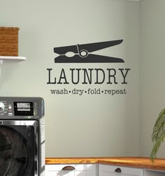 Laundry Wall Decor laundry room wall decals - laundry room decals - laundry room wall