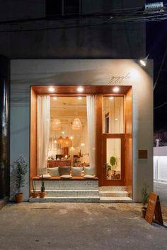 love the sitting area Cafe Shop Design, Small Cafe Design, Restaurant Interior Design, Home Interior, House Design, Design Design, Boutique Interior, Shop Front Design, Store Design