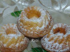 Rozi Erdélyi konyhája: Citromos minikuglófok Pound Cake, Doughnut, Recipies, Muffin, Food And Drink, Breakfast, Sweet, Desserts, Vaj