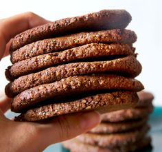 Wonderful healthy chocolate cookies with chia seeds, must try this. From deliciously Ella Raw Food Recipes, Snack Recipes, Dessert Recipes, Cooking Recipes, Healthy Recipes, Snacks, Desserts, Healthy Sweet Treats, Healthy Sweets