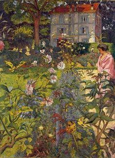 Garden at Vaucresson, Edouard Goulliard, 1920