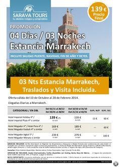 Super Oferta Marruecos Estancia Marrakech 04 días con traslados y Visita incluida 139 € Precio Final - http://zocotours.com/super-oferta-marruecos-estancia-marrakech-04-dias-con-traslados-y-visita-incluida-139-e-precio-final-3/